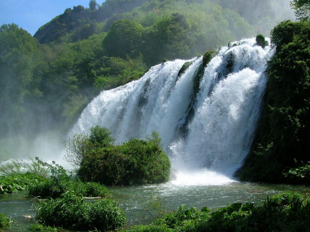 Marmorės kriokliai Umbrija