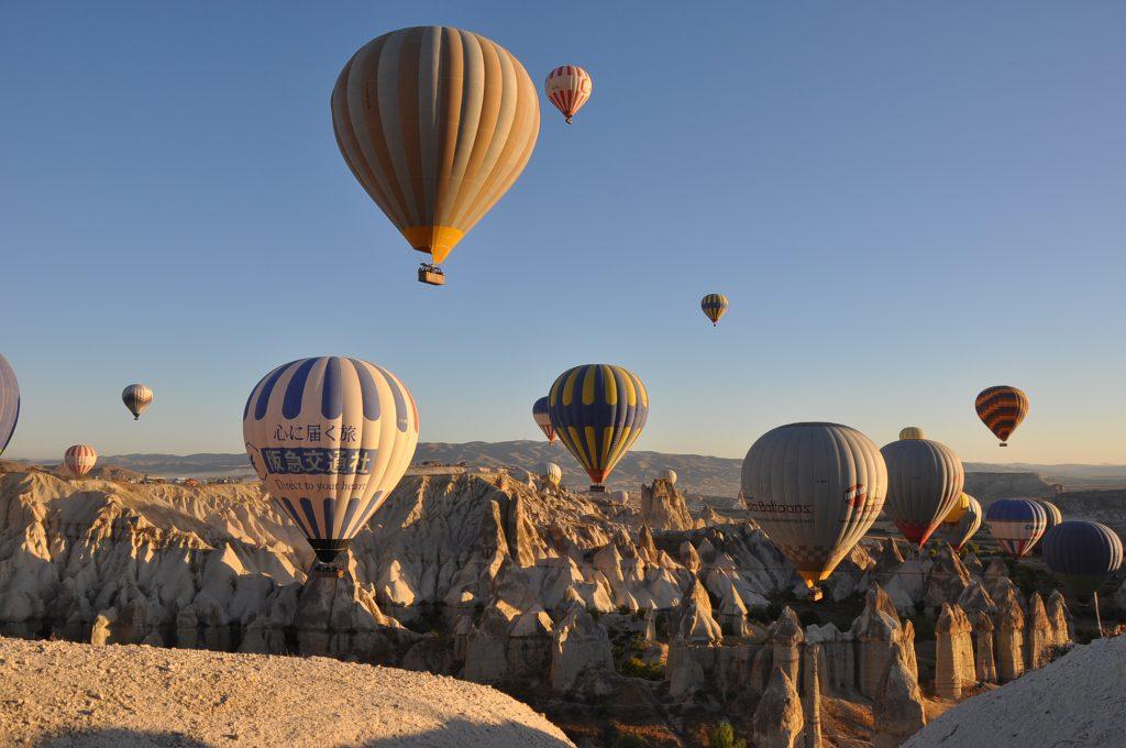 Oro balionai Kapadokijoje